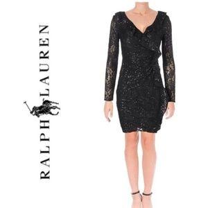 NWT RALPH LAUREN Lace & Sequin Evening Dress